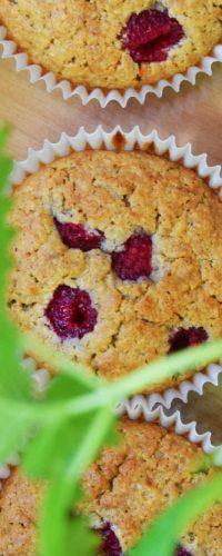 owsiane muffinki z malinami przepis niepieprz